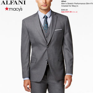 Alfani - Stretch Performance Slim-Fit Suit (GREY)